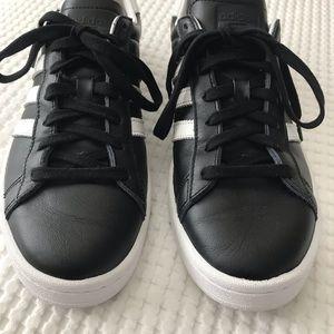 Adidas Vulc Black Leather Shoes